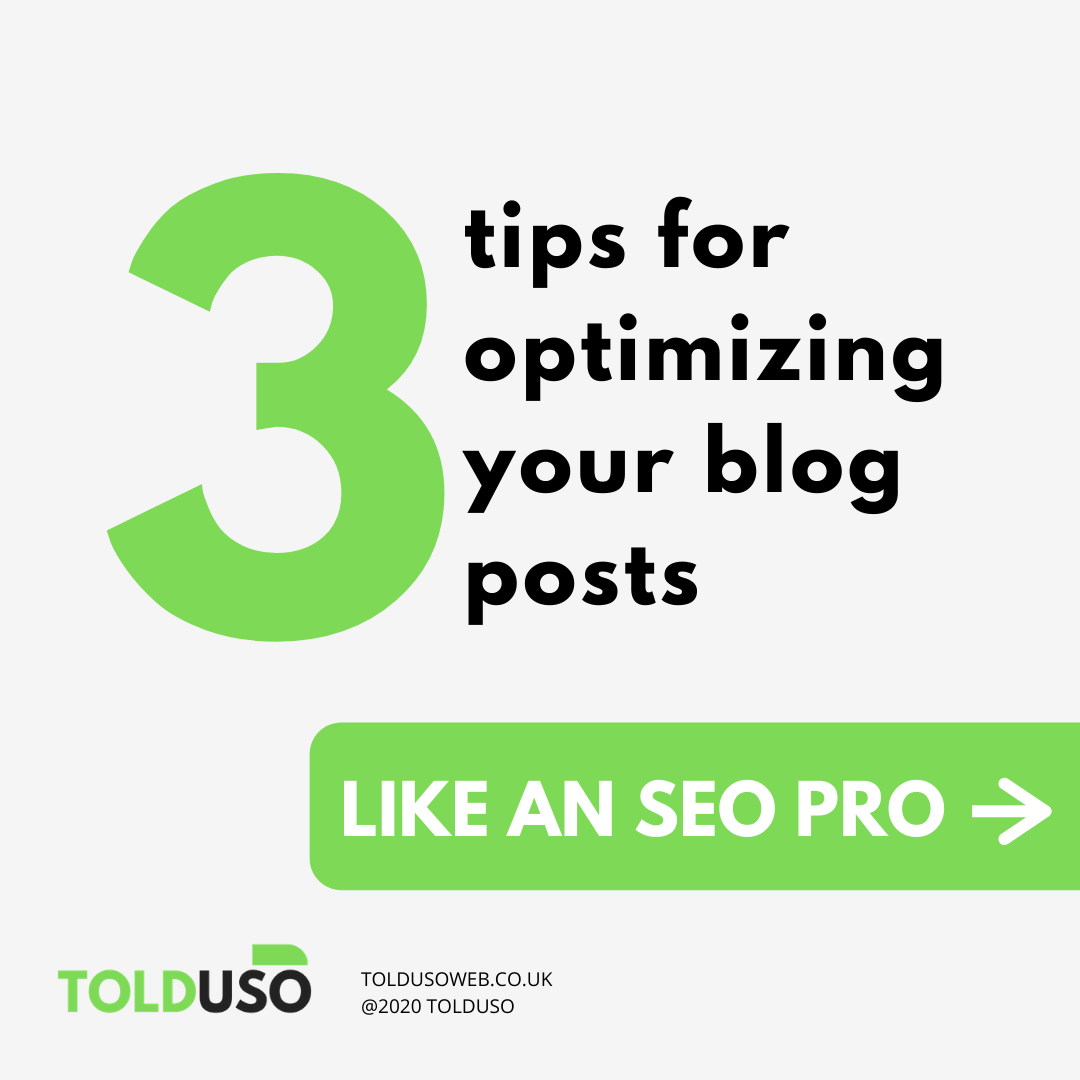 Three tips for optimizing your blog posts like an seo pro